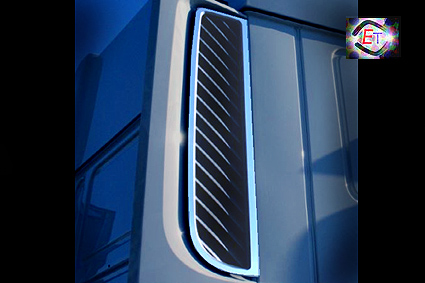 Daf xf 106 euro 6 stainless steel accessories by eurotrucker
